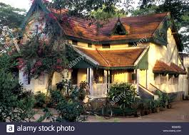 dutch colonial house fort cochin kerala india stock photo royalty