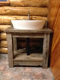 Cabin Bathroom Vanity by Macgirlver Reclaimed Wood Bathroom Vanity