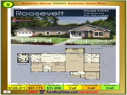 Modular Floor Plans With Prices by Roosevelt Rochester Modular Home Model Ejr4a Ranch Plan Price
