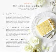 where to make a wedding registry wedding registry checklist williams sonoma