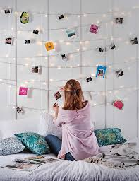 lights on wall with pictures bedroom fairy light ideas inspiration lights4fun co uk