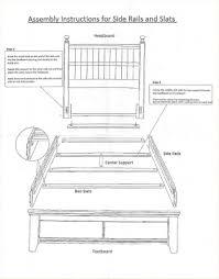 wooden replacement bedrails
