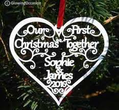 our 1st together personalised tree decoration