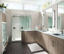 Modern Bathroom Cabinetry Modern Bathroom Cabinets In Thermofoil Kitchen Craft Cabinetry