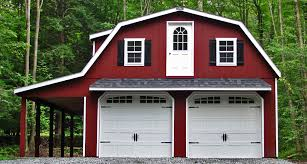 Red Barn Kennel Prefab U0026 Portable Garages Prefab Garages Horizon Structures