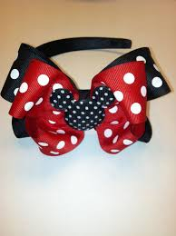 mickey mouse hair bow boutique disney mickey mouse hair bow headband on etsy 8 46