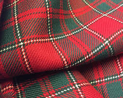 tartan plaid fabric etsy