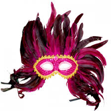mardi gras factory sequin maroon feather mardi gras mask wally s party factory