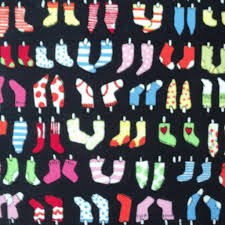 colourful little sock 100 cotton fabric childrens novelty