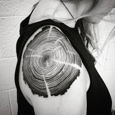 tree ring shoulder ink tree rings