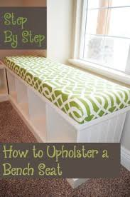 step by step how to upholster a bench seat bench seat