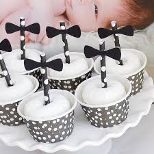 black white first birthday party powdered donuts dots candy