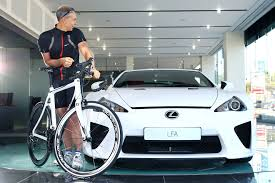 lexus supercar 2013 lexus bicycle pedal power