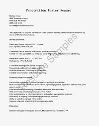Resume For Software Testing Experience Testing Tools Resume Free Resume Example And Writing Download