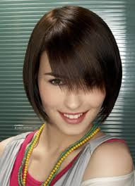 shorter hairstyles with side bangs and an angle short hairstyle with peek a boo bangs and angles along the side