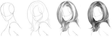 hair drawing tutorial how to draw realistic hair long hairstyles