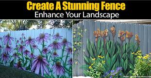 mural on wood cool idea on how to create a stunning fence to enhance your