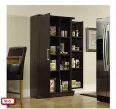 2 Door Pantry Cabinet Kitchen Pantry Cabinet Tall Wood Storage Shelf Organizer Racks
