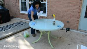 How To Paint Metal Patio Furniture How To Paint Outdoor Furniture Thrift Diving Blog