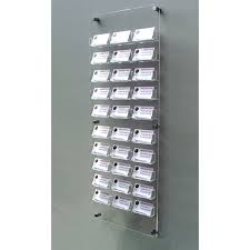 30 bay wall mount business card holders suitable for dispensing