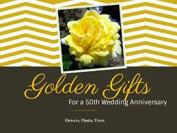 golden anniversary gift ideas 50th wedding anniversary gift ideas tree2mydoor