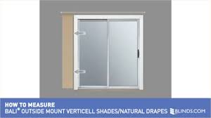 how to measure for bali outside mount verticell shades and natural