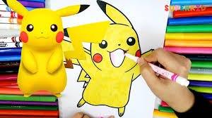 pikachu coloring pages learning color for kids by coloring