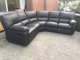 Leather Recliner Corner Sofa Littlewoods Leighton Black Real Leather Recliner Corner Sofa