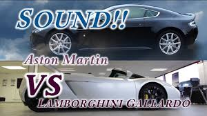 lamborghini gallardo sound aston martin vs lamborghini gallardo sound comparison