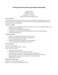 Human Resources Assistant Resume Sample by Human Resources Resume Objective Berathen Com