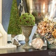 Mantel Topiaries - diy moss topiary the farmhouse studio pinterest craft