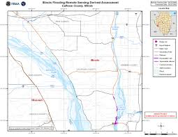 Illinois Road Map by Disaster Relief Operation Map Archives