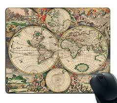 map pad amazon com decorative mouse pad print vintage map