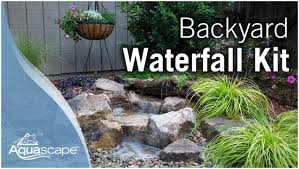 backyards gorgeous how to create a backyard waterfall 112 small