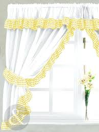 Blue And White Gingham Curtains Blue And Yellow Plaid Kitchen Curtains White Gingham U2013 Muarju