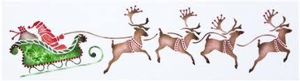santa sleigh and reindeer santa s sleigh and reindeer cake stencil