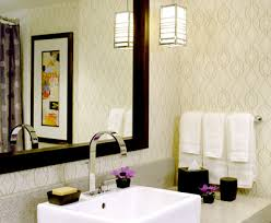 designer bathroom wallpaper modern wallpaper neutral geometric print posh hotel bat flickr