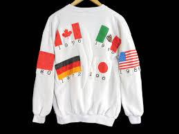vintage 1988 olympics crewneck sweatshirt large south korea