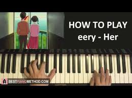 ukulele keyboard tutorial how to play eery her piano tutorial lesson music pinterest