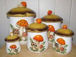kitchen canister sets vintage vintage retro sears 5 pc merry ceramic canister set