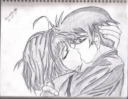 photos couples kissing animated images drawing art gallery