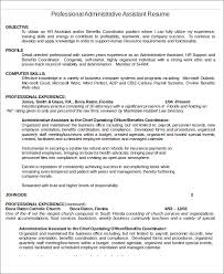 Hr Assistant Resume Administrative Assistant Resume Templates 6 Free Word Pdf