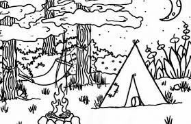 camping coloring pages colorings