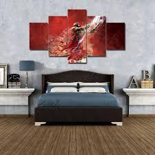 michael jordan 23 wall art canvas 5 piece picture print large
