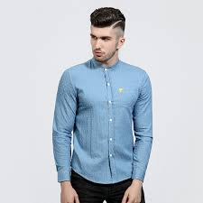 designer hemden mã nner aliexpress buy brand 2017 denim dress shirts mens polka dot