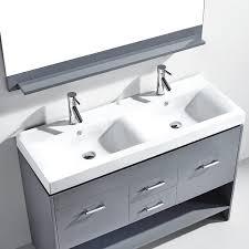 virtu usa md 423 gloria 48 double sink bathroom vanity grey