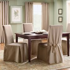 Slipcover For Dining Room Chairs Sure Fit Cotton Duck Length Dining Room Chair Slipcover