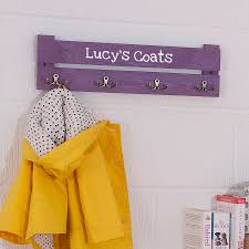 personalised wooden coat racks for kids by plantabox