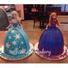 anna elsa frozen cake kids party cake elsa
