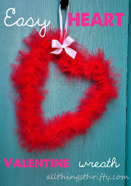 Home Accessories And Decor Easy Valentine Wreath Idea And Tutorial All Things Thrifty